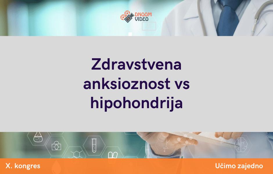 Zdravstvena anksioznost vs hipohondrija
